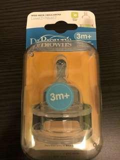 Dr Brown Wide Neck Teat 3M+