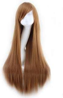 Brown long wig