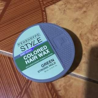Easy Wash Colored Hair Wax (Green)