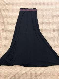For petite girls! New Maxi Skirt with Embroidered waist!