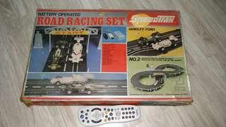 Vintage Slot Racing Car Set