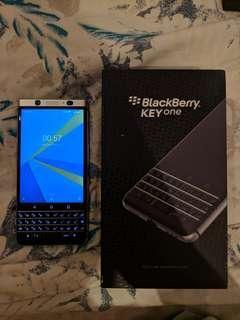 Blackberry Keyone Silver 3/32 Full Android Oreo Fullset & Lancar 100%