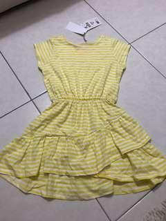 Yellow stripy Dress