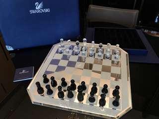 SWAROVSKI 水晶國際象棋連棋盤
