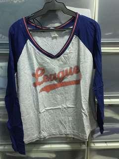 H&M long sleeved baseball shirt