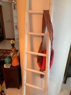 White antique ladder