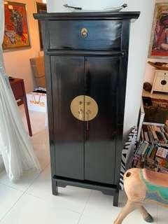 Black Chinese vintage antique cabinet