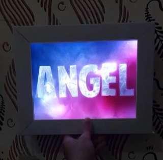 Custom gift light in frame