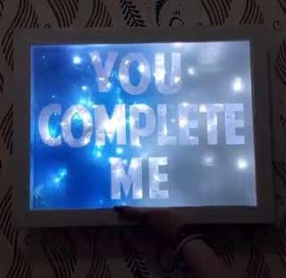 Custom Text Light Gift in Frame