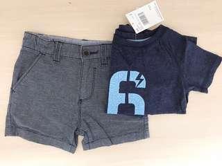 *NEW* boys tee + shorts size 3