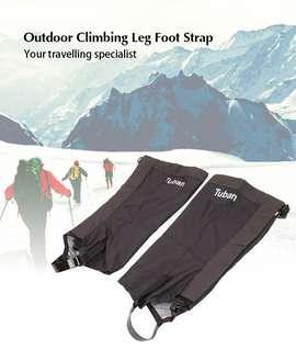 Tuban Outdoor Climbing Camping Leg Foot Strap (BLACK)
