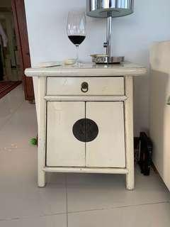 White Chinese side tables