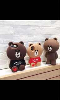 INSTOCKS line and bear iphone casing