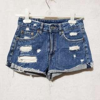 H&m hwaist tattered shorts