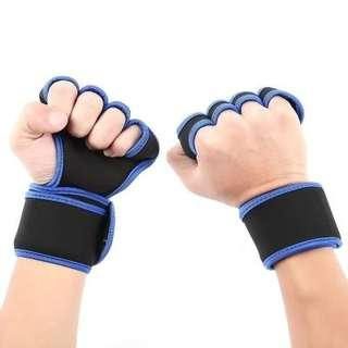 HALF FINGER GLOVES FOR CYCLING (BLUE, SIZE M/L/XL) M