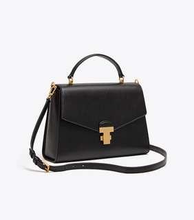 3d7d971b1d30 Authentic Tory Burch 51022 Juliette Top-Handle Satchel Sling Crossbody Bag