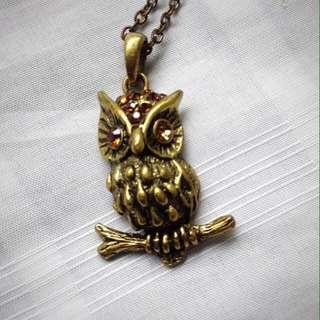 Topshop Owl Pendant and Necklace #PreCny60