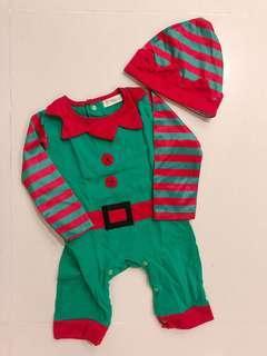 Baby Christmas Elf Romper