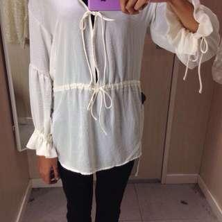 H&M Boho Sheer Top