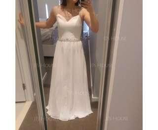 A-Line/Princess Sweetheart Floor-Length Chiffon Prom Dresses With Beading Sequins