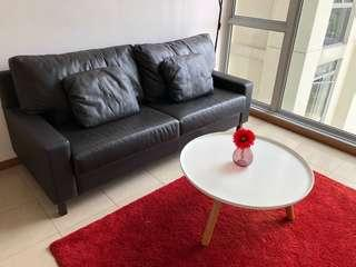 Half leather sofa for sale
