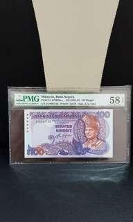 Malaysia 5th RM100 ZC last prefix pmg 58 epq