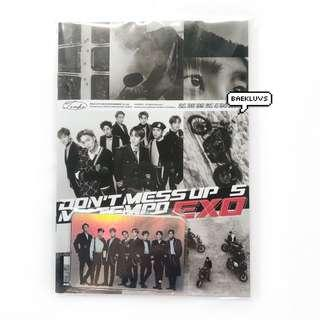 [INSTOCKS] EXO Don't Mess Up My Tempo Sticker Book + Hologram Sticker Set