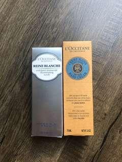L'Occitane Face Scrub and Hand Cream