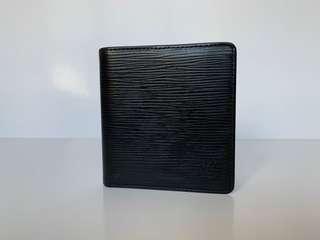 Authentic Louis Vuitton Black Epi Leather Bi Fold Wallet