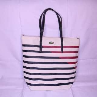 Pre-loved Lacoste Striped Tote Bag