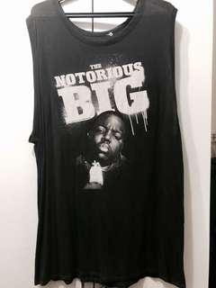 H&M Notorious Big Oversize Muscle Tee