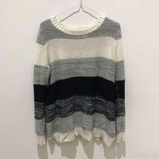 Dotti Knitted Stripe Top Size M