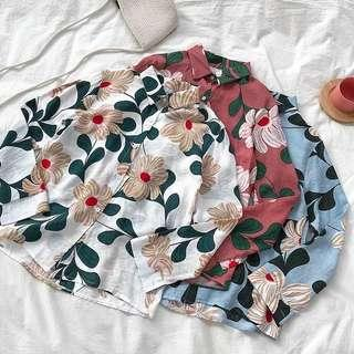 Lauren Floral Button Up Blouse Top