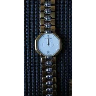 Christian Dior Gold Plated Classical Watch