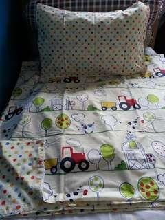 Queen Size Quilt Cover Set w/Fitted Sheet