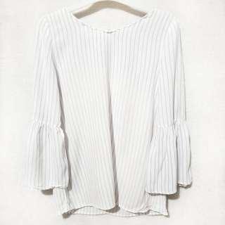 Zara bell sleeves top