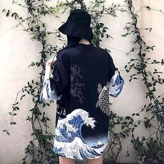 The Great Wave Of Kanagawa Japanese Cardigan