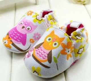 Owl prewalker shoes size 6-12m and 12-18m
