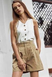 BNWT TCL Norin Buttoned Top