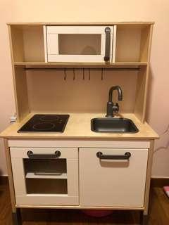 IKEA DUKTIG Play Kitchen With Free Just Like Home Shopping Trolley Cart And Toy Food