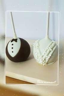 Bride and Groom Cake Pop