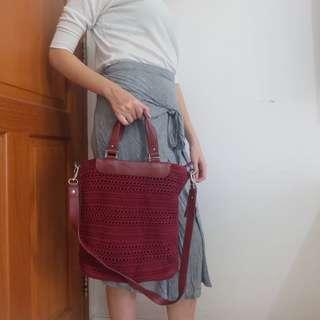 Maroon Dowa Bag