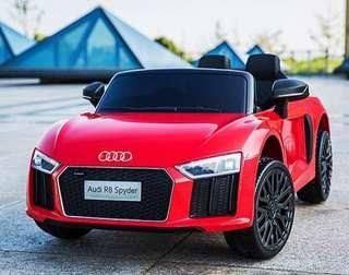 Audi R8 kids electric car with remote control stroller for newborn toddler