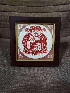 [ High Positive Rating ] Portrait Paper Cutting Wealth God Chinese New Year