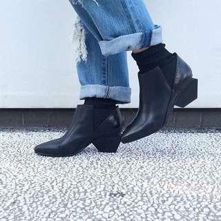 🚚 UNITED NUDE 全真皮拼接皮革 造型跟鞋/SHOEX/Dr.martens/Trippen