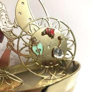 全新 美女與野獸配角耳環 beauty and the beast earrings 100%new 日本迪士尼三隻一套售