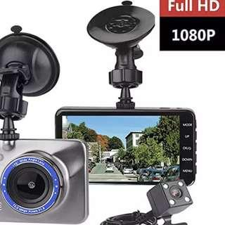 Crystal Clear Ready Stock Front & Rear / Reverse Car Camera - Night Vision, G Sensor, Motion Detection, Loop Recording