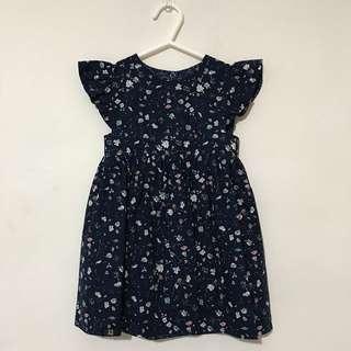MaisonQ reversible navy blue Floral Dress