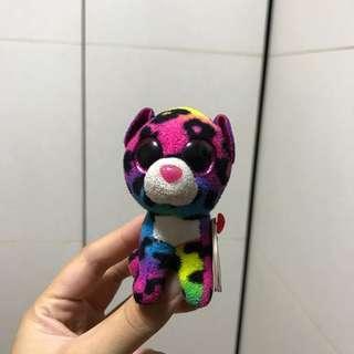 🚚 Ty Beanie Boos Dotty Rainbow Leopard Keychain
