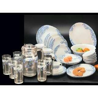 38pc Dining & 7pc Drinking set